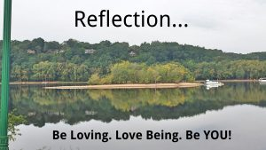 reflect on it...