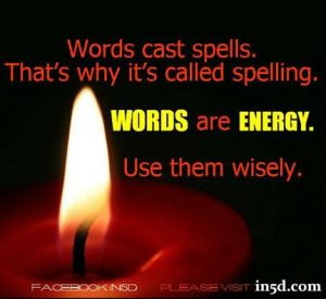 words are energy