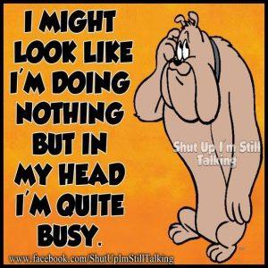 In my head...